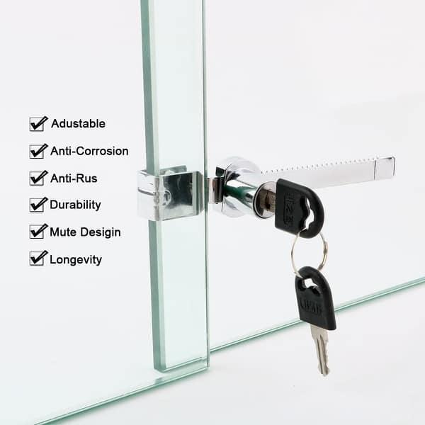 BTMB Drawer Display Case Showcase Glass Door Cabinet Lock,2 Set w 4 Keys Keyed Alike