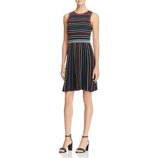 Parker Womens Reggie Party Dress Striped Sleeveless