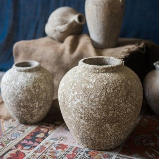 RusticReach Ancient Pompeii Style Handmade Art Jar Pot