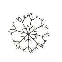 "16"" In The Birches Glitter Twig Snowflake Christmas Ornament - brown"