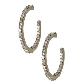 0.5 cts Genuine Diamond Hoop Earrings