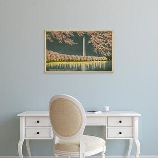 Easy Art Prints Unknown's 'Washington Monument at Night' Premium Canvas Art