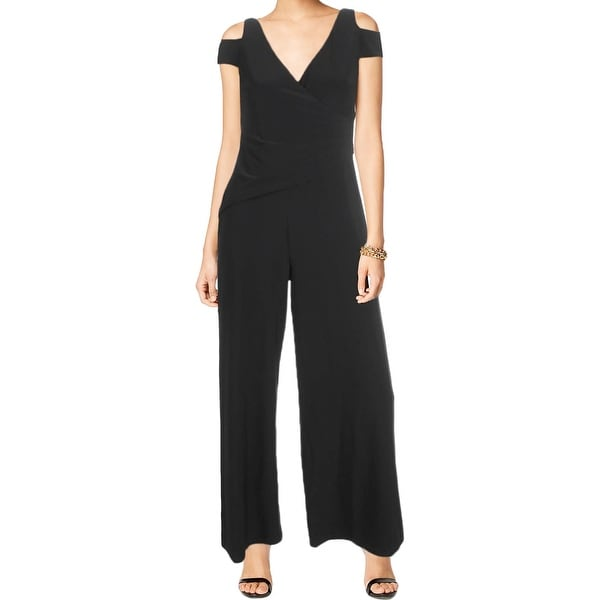 classic chic best loved highly coveted range of Shop Lauren Ralph Lauren Womens Petites Jumpsuit Cut-Out ...