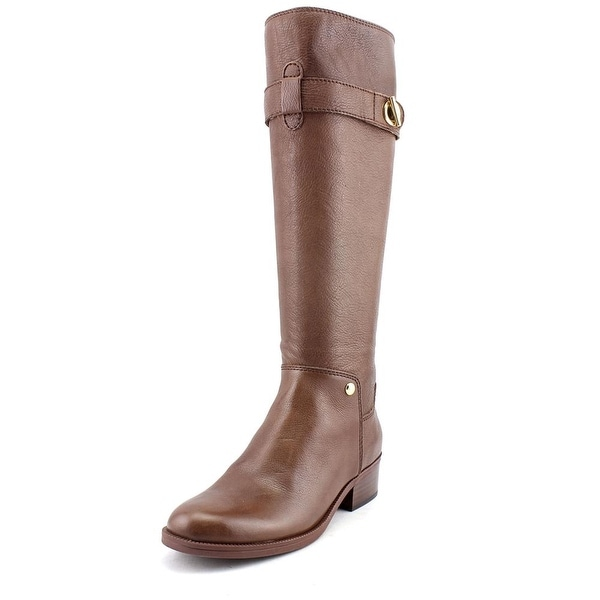 Tommy Hilfiger Gallop Women Round Toe Leather Brown Knee High Boot