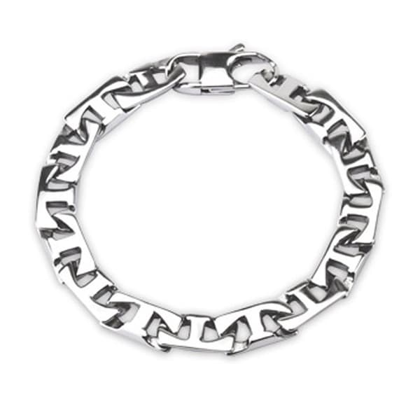 316L Steel Cast Flat T - Link Bracelet (8.7 mm) - 8.75 in