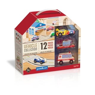 Wooden Vehicle Collection Set Of 12