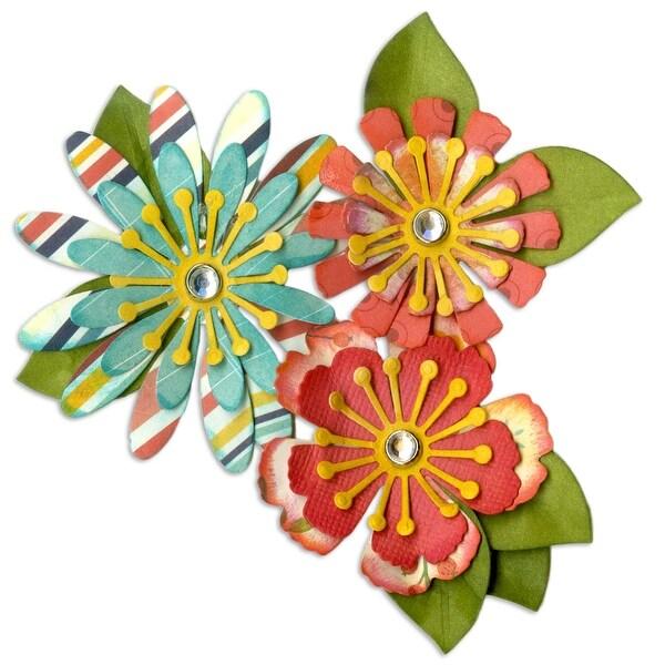 Sizzix Thinlits Dies 10/Pkg-Mix & Match Flowers