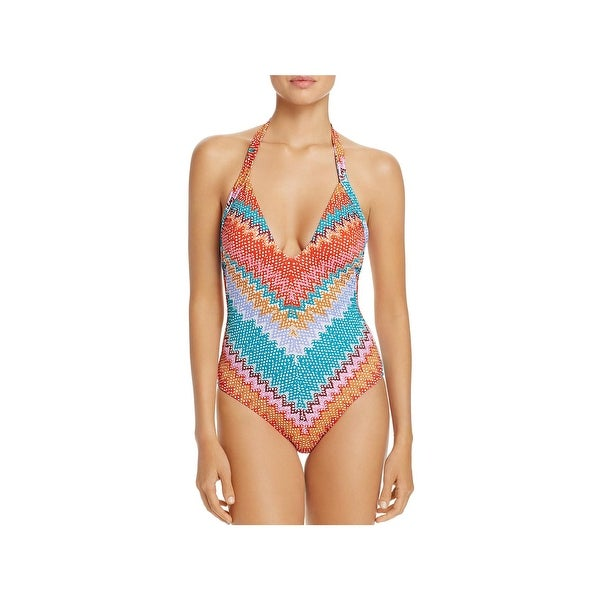 f72c14de1e Heidi Klum Swim Womens Antaria Stretch Printed One-Piece Swimsuit - 12