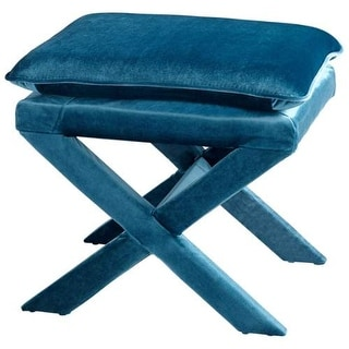 Cyan Design Otto Stool Otto 19.5 Inch Tall Wood and Foam Stool