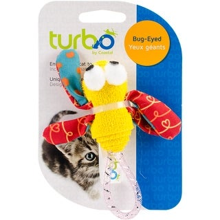 "Turbo Foam Fun Cat Toy-Dragonfly - 4"" - dragonfly - 4"""