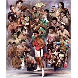 ''Boxing Greats: Champions #3'' by Wishum Gregory Sports/Games Art Print (24 x 20 in.)