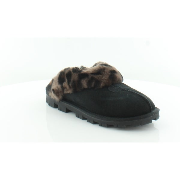 ee9d4516948 Shop UGG Coquette Leopard Women's Slippers Black - 7 - Free Shipping ...