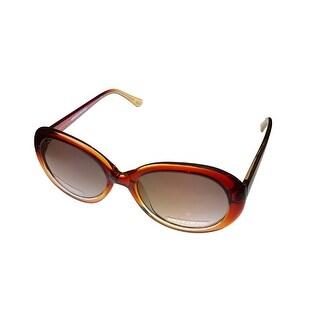 Skechers Womens Sunglass Brown Round Plastic, Gradient Lens Sk 4053 Brown - Medium