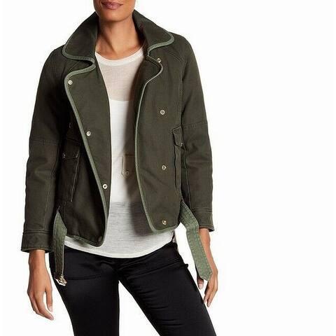Zadig & Volatire Womens Jacket Green Size Small S Asymmetric Kawa Parka