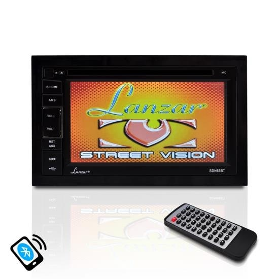6.5'' Video Headunit Receiver, Bluetooth Wireless Streaming, CD/DVD Player, Double DIN