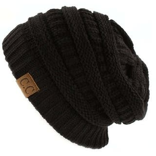 ed0fcfc77a0 Quick View.  11.45. Trendy Warm CC Chunky Soft Stretch Cable Knit Soft  Beanie Skully