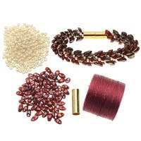 Refill - Deluxe Beaded Kumihimo Bracelet (Marsala) - Exclusive Beadaholique Jewelry Kit