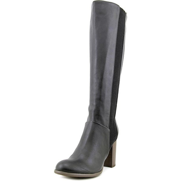 Fergalicious Righteous Women Round Toe Leather Black Over the Knee Boot