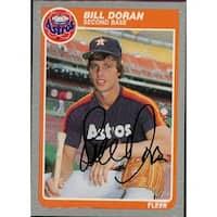 Signed Doran Bill Houston Astros 1985 Fleer Baseball Card autographed