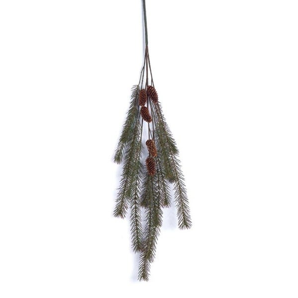 4 Eco Country Green Glacier Pine Christmas Sprays w/Pinecones 40""