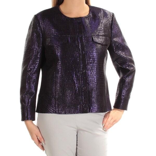ANNE KLEIN Womens Purple Suit Wear To Work Jacket Size: 2