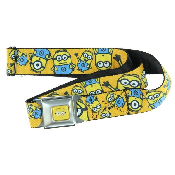 Despicable Me Minions Close Up Expressions Seatbelt Belt-Holds Pants Up