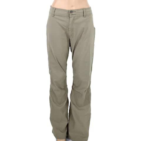 prAna Womens Halle Pant Khaki Beige Size 18W Plus Stretch Zip-Pockets