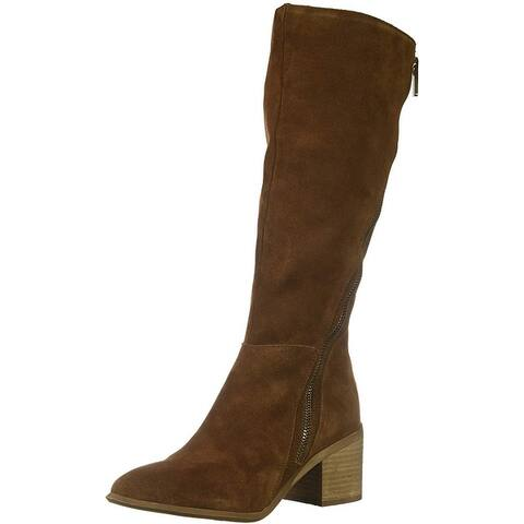 Carlos by Carlos Santana Womens Ashbury Leather Pointed Toe Knee High Cold We...