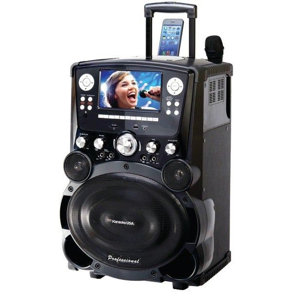 "Karaoke Usa Gp978 Professional Dvd/Cd+G/Mp3+G Bluetooth(R) Karaoke System With 7"" Tft Color Screen & Tote Wheels"