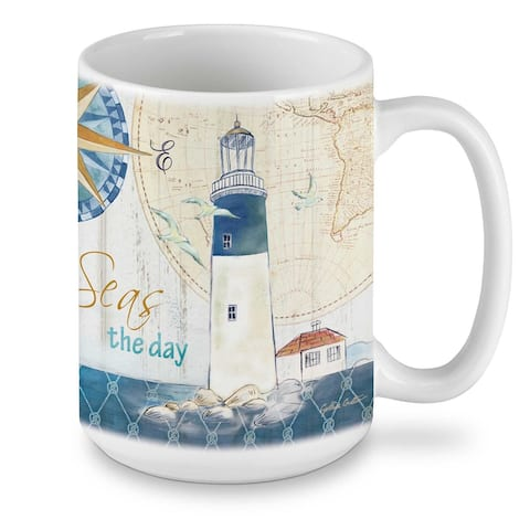 Ceramic Mug - Set Sail 15 oz - 4.5x4.5x3.15