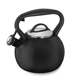 Cuisinart CTK-EOSTRBK Valor Porcelain Enamel on Steel Tea Kettle, Black, 2-Quart