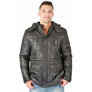 Urban Republic Men's Quilted Faux Down Jacket Winter