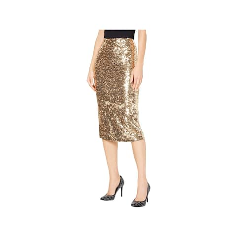 MICHAEL Michael Kors Womens Pencil Skirt Sequined Fitted