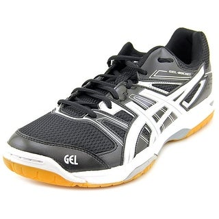 Asics Gel Rocket 7 Men Round Toe Synthetic Black Tennis Shoe