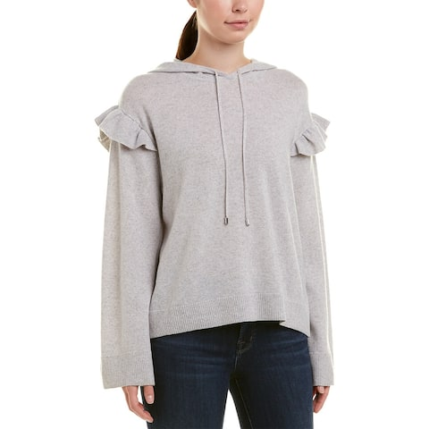 Joie Pammeli Wool & Cashmere-Blend Top - HEATHER GREY