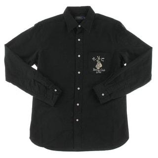 Polo Ralph Lauren Mens Button-Down Shirt Cotton Embroidered - M