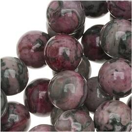Red Pink Laguna Lace Agate (D) Round Beads 8mm - 15.5 Inch Strand
