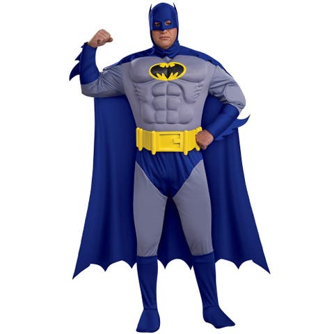 Rubies Batman Deluxe Muscle Chest Batman Plus Size Costume - Blue/Grey - X-Large
