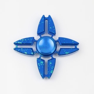 Hand Fidget Spinner - USA Stock - Splatter Star - Stress and Anxiety Reliever - Blue