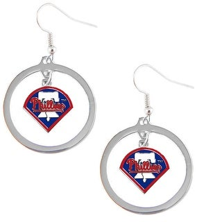 Philadelphia Phillies Hoop Logo Earring Set MLB Charm