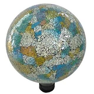 Gardener Select GSA16BFG06 10 in. Mosaic Blue & Yellow Globe
