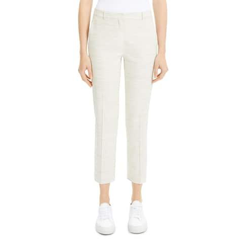 Theory Womens Tailor Dress Pants Linen Blend Heathered - Sharkskin Crunch