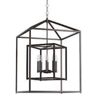 """Park Harbor PHPL5118 24"""" Wide 8-Light Pendant with Cage Style Frame - N/A"""