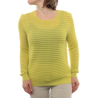 Halston Heritage Long Sleeve Crew Neck Sweater Women Regular Sweater