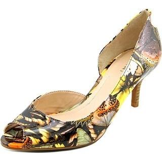 Tahari Jessie Women  Peep-Toe Patent Leather Multi Color Heels