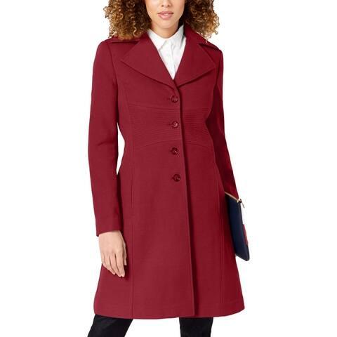 Tommy Hilfiger Womens Pea Coat Winter Midi