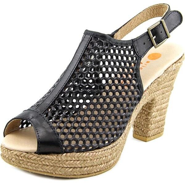 Eric Michael Jayden   Open Toe Leather  Platform Sandal