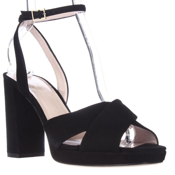 Kate Spade Honey Ankle Strap Square Toe Dress Sandals, Black - 9 us