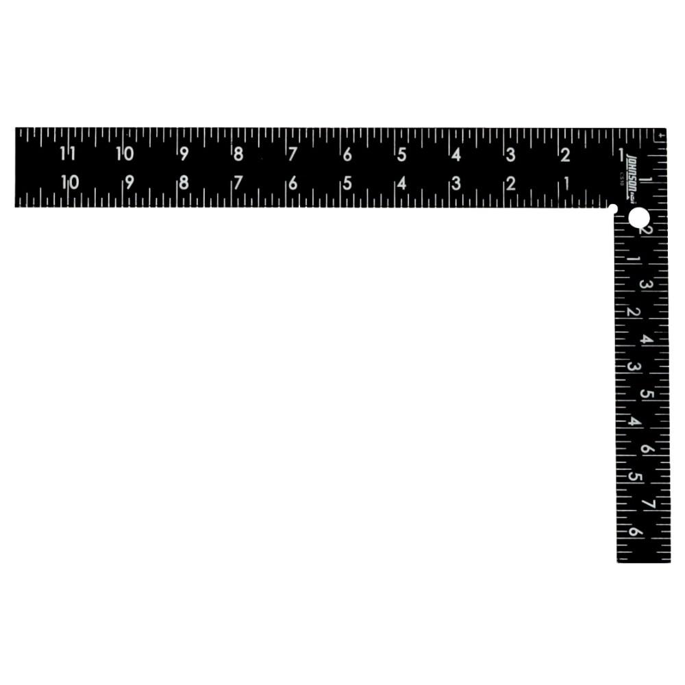Johnson Level CS10 Professional Easy-Read Steel Carpenter Square, 8 x 12