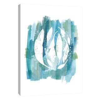 "PTM Images 9-108664  PTM Canvas Collection 10"" x 8"" - ""Blue Watercolor 3"" Giclee Abstract Art Print on Canvas"